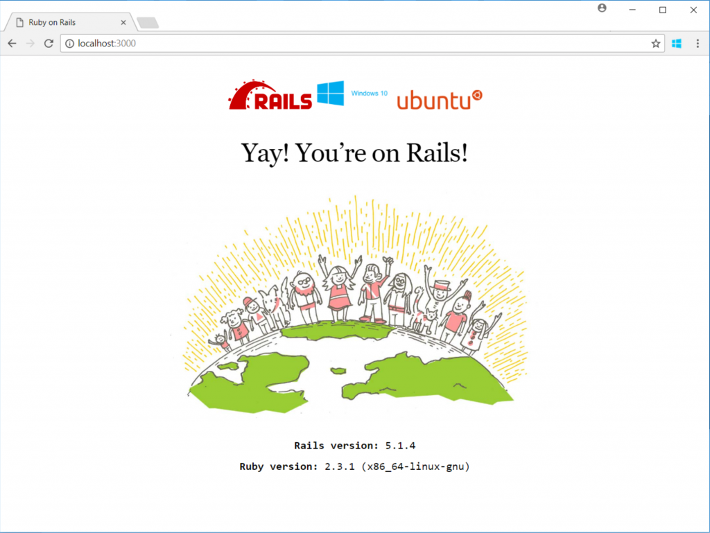 How to develop Ruby on Rails with Windows 10's Linux