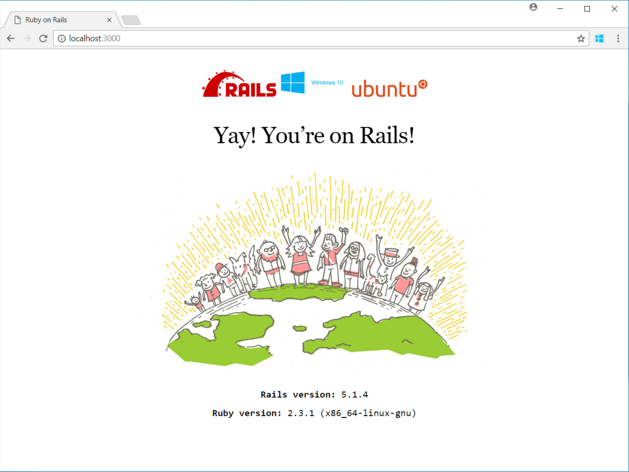 How to develop Ruby on Rails with Windows 10's Linux Subsystem